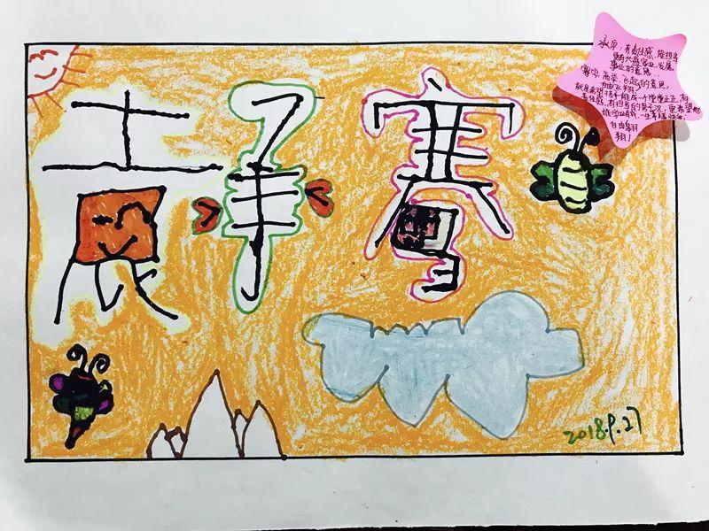 3.幼儿进行创作名字创意画.   4.教师对幼儿进行适当的指导.