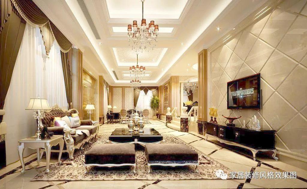 20款欧式客厅装修效果图,打造时尚优雅轻奢主义的家