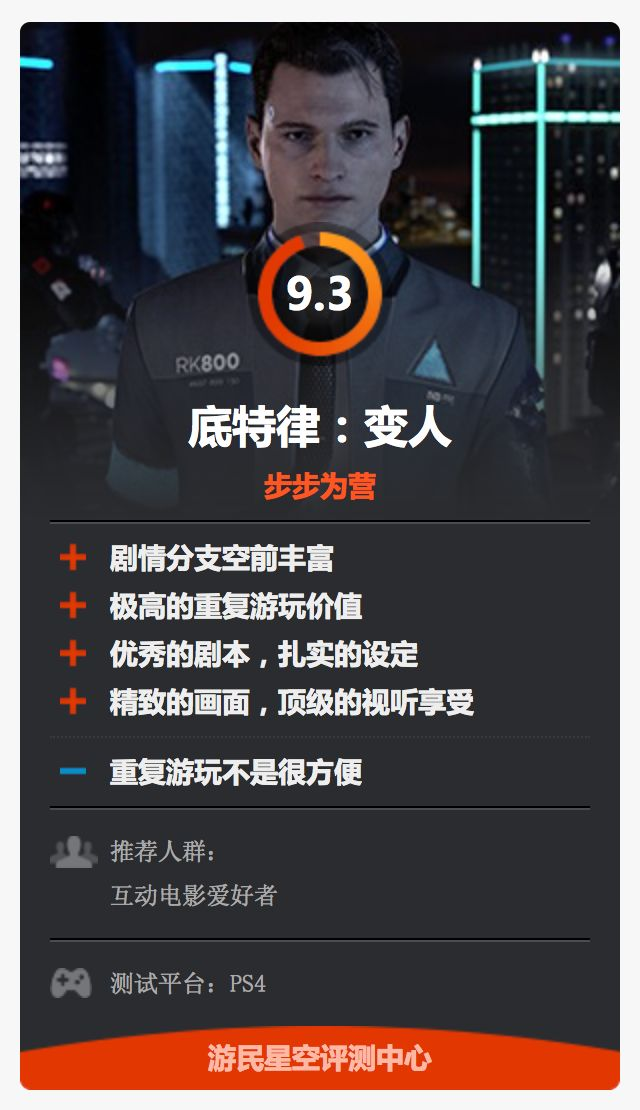 《DETROIT:BECOME HUMAN》--中国媒体评