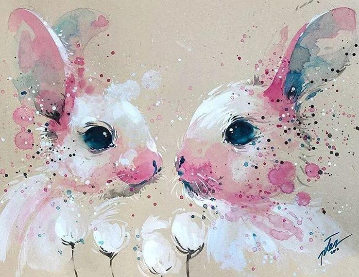撒点颜色,加水晕染,画水彩很难吗?