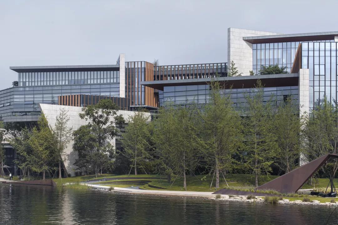 折线白色:字体自然与多维公园--成都麓湖生态城形态banner景观v折线图片