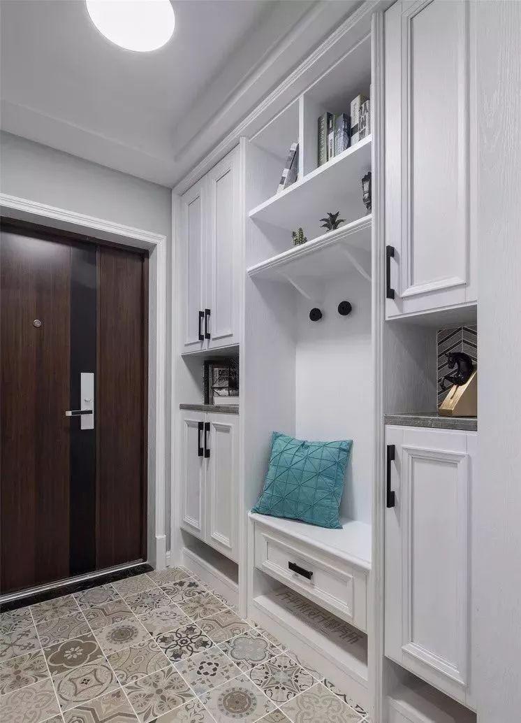 玄关鞋柜这样设计,你家还能多放89双鞋!图片