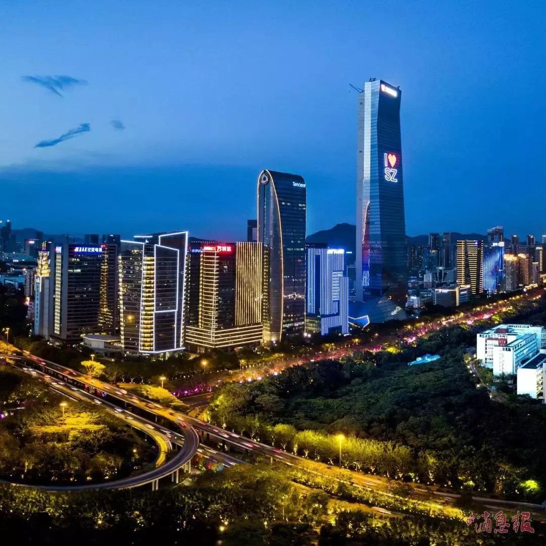 深圳城市风景夜景