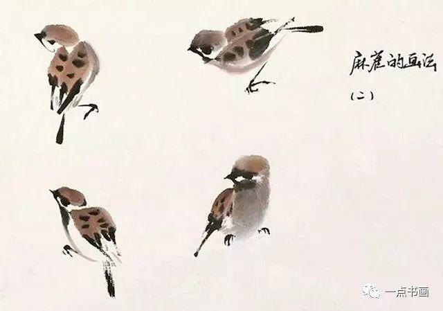 墨画白鹤鸟
