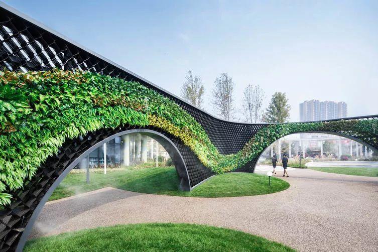 比如竹,经常在中式景观中使用,成排的竹子应用,也能给人隐约之美.