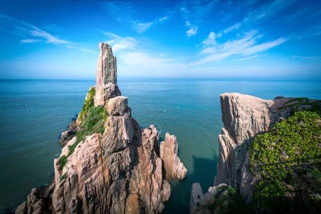 从山东半岛的南部,牵手来到山东半岛东端的海岸线上.