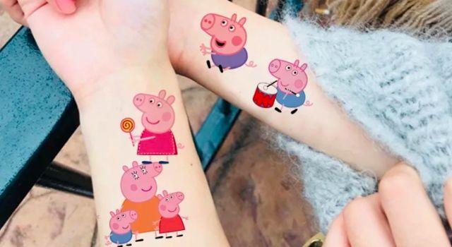 """小猪佩奇纹身贴检出重金属""""汞""""!孩子贴了胳膊变这样"""
