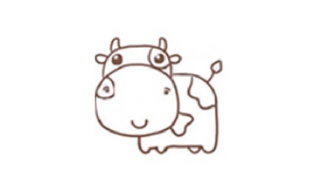 画画吧!简单几步,分分钟画出超萌奶牛!