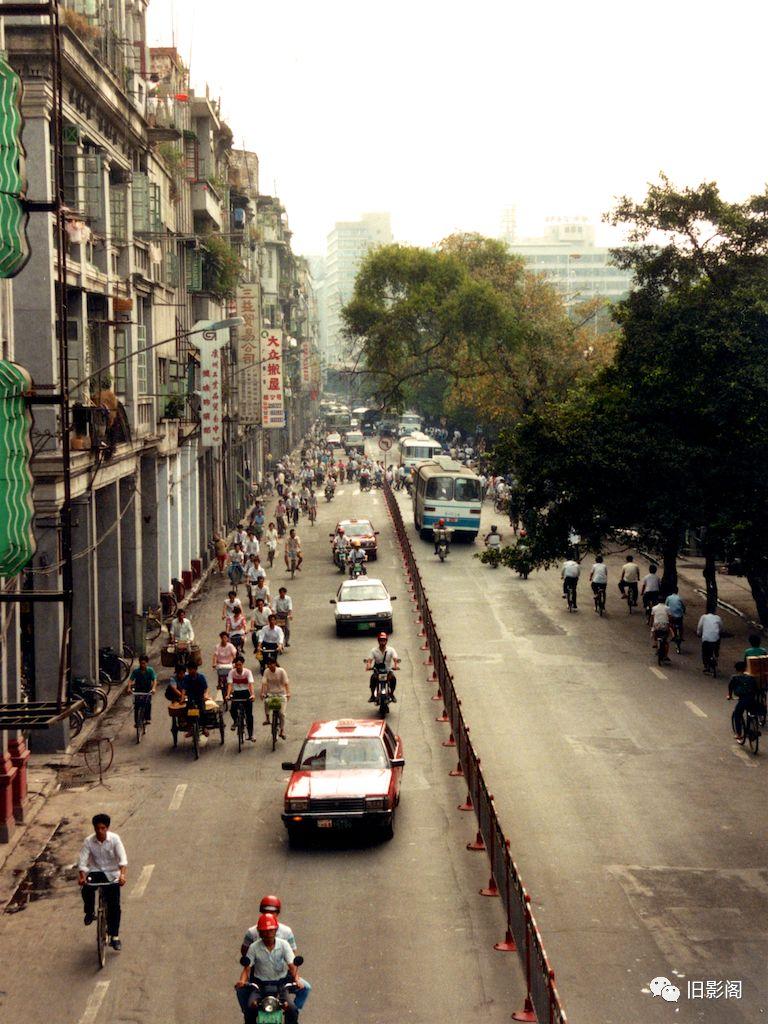 老照片:广州市商业繁华区之一,荔湾区1991年多义一词初中图片