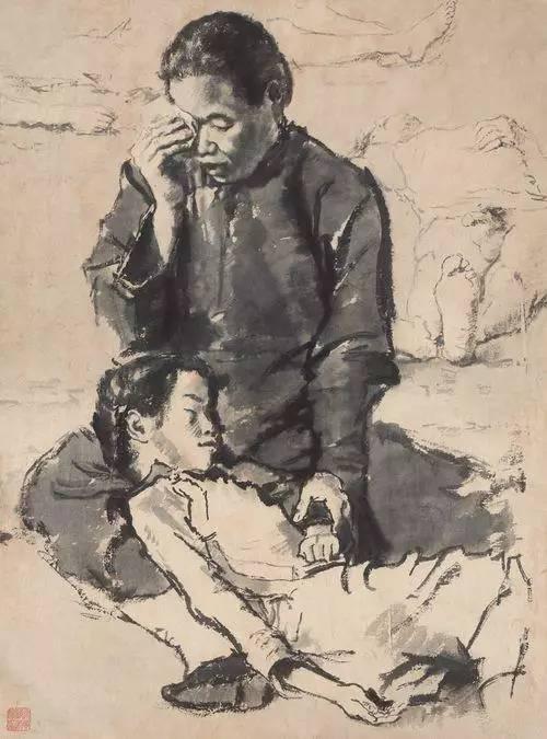蒋兆和水墨人物画