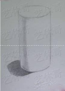 素描之圆柱 光影素描图片