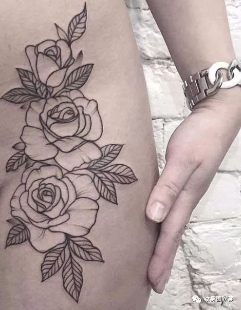 花纹身 - 【栀子花】纹身图案
