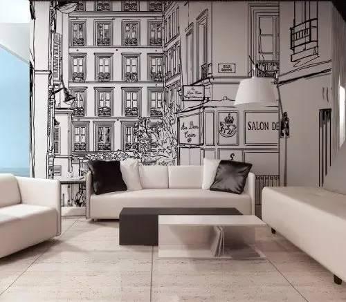 在家里贴上一款城市风景的墙纸,把都市的繁华都放到家里.
