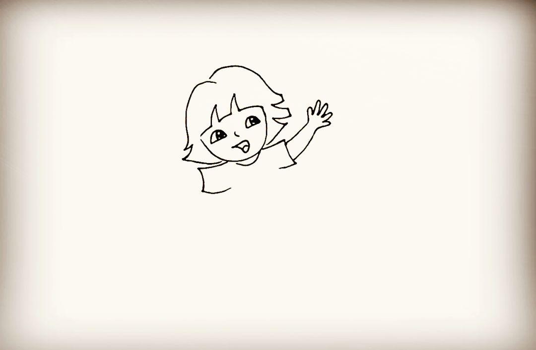 可爱线条眼睛简笔画