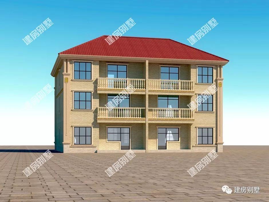 共堂屋的三层双拼别墅,俩兄弟这么建房是要羡慕坏村里