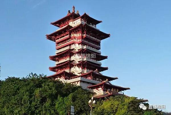 越王楼--三江半岛景区位于绵阳市内两大主城区(涪城区,游仙区)交界