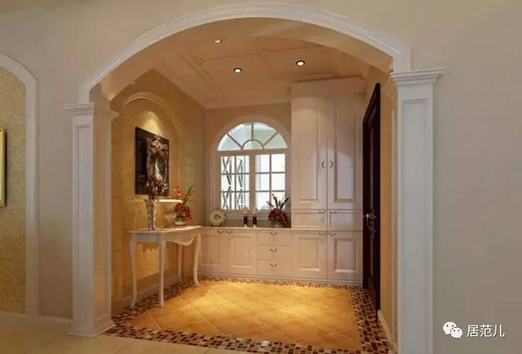 门套与门配套使用,可以直接将空间隔断成独立的房间;而垭口套用在没
