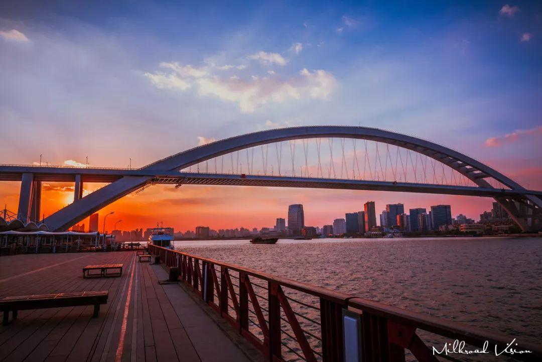 沟通整个城市系统和谐运行                  ▲卢浦大桥   c   h