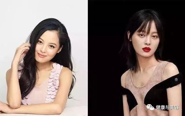 相对她之前的长发侧分刘海,辛芷蕾换了这个发型后,辨识度更高了