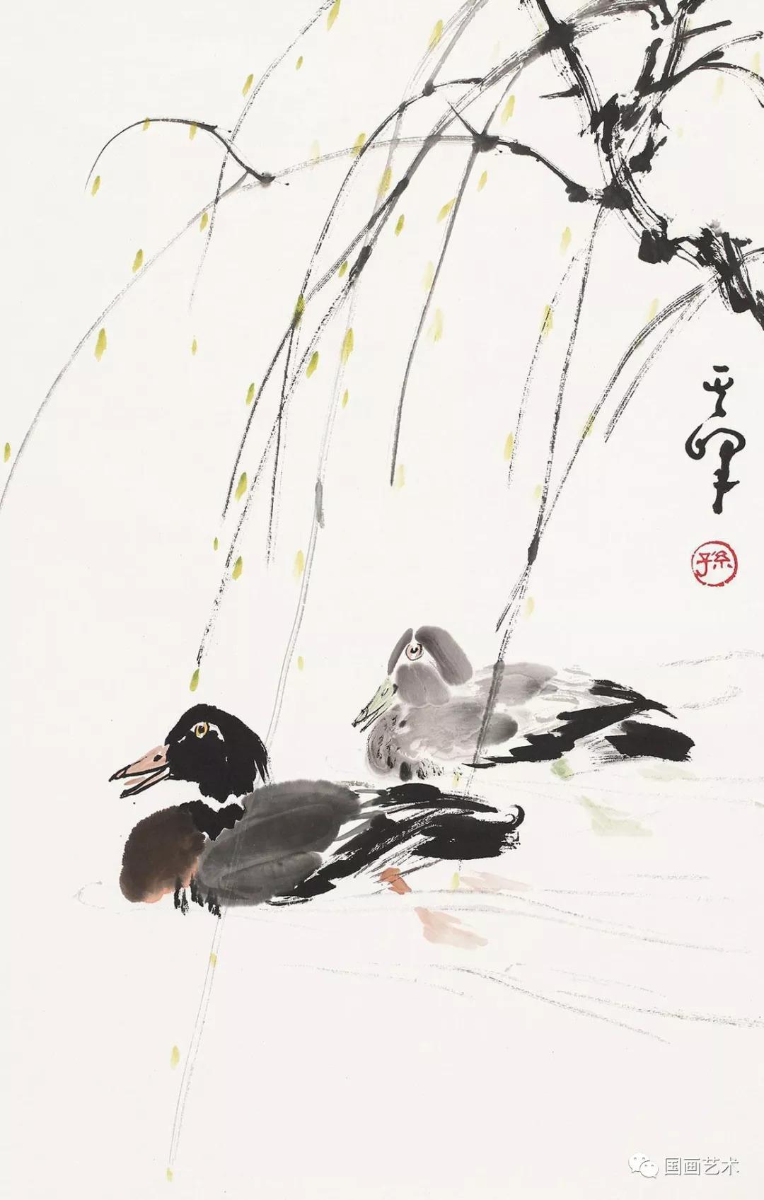名家讲堂:孙其峰教授讲解鸭子画法图片