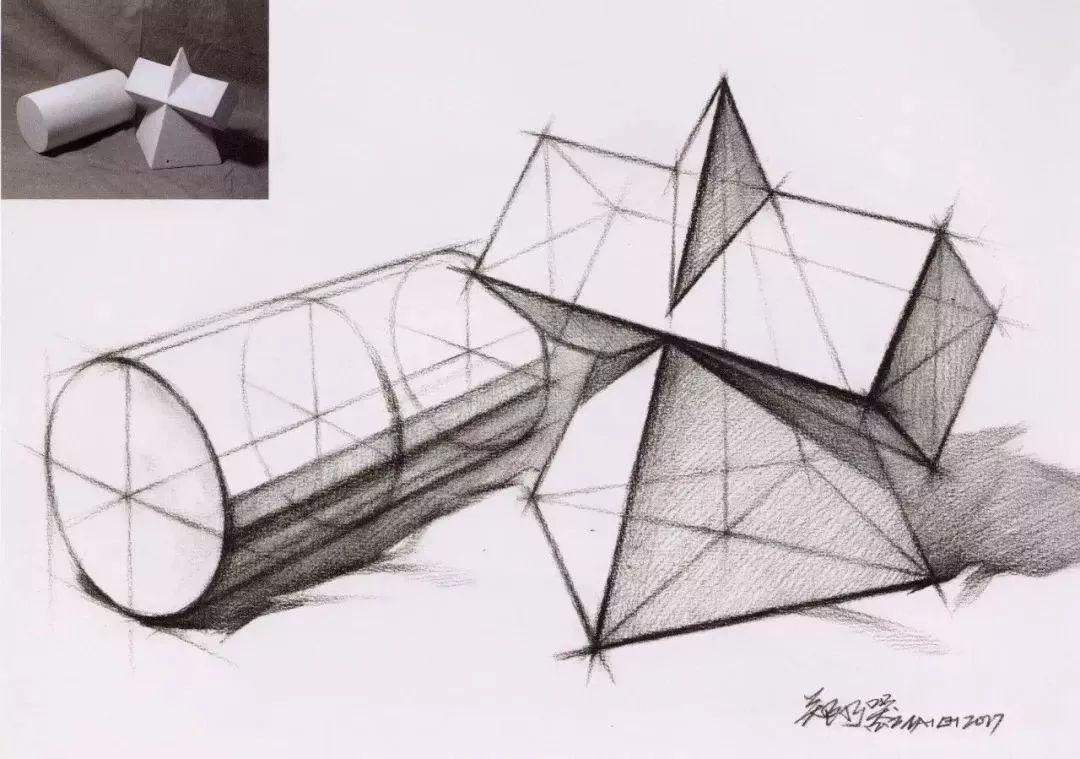 必看干货 | 从静物到头像,高清素描结构图(130)