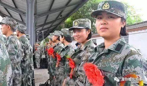 女孩子在部队担负有哪些级别都当兵岗位呢马尾脸胖女生的