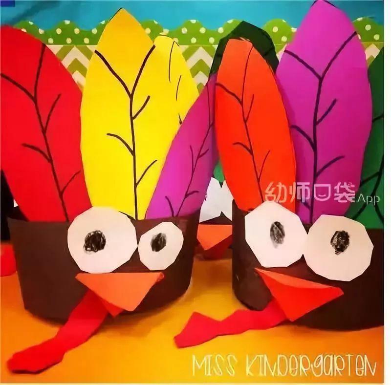 火鸡简笔画彩色