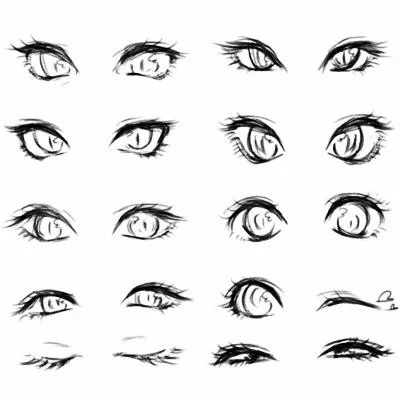 卡通人物眼睛矢量图