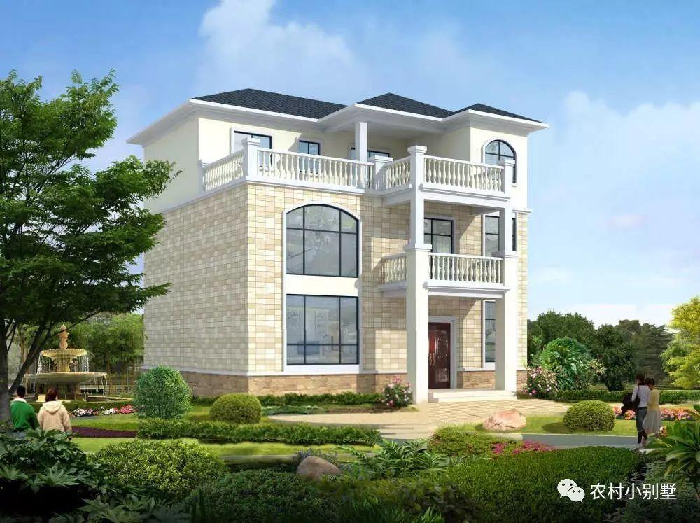 简单实用的三层农村别墅,造价不超过30万,经济又美观