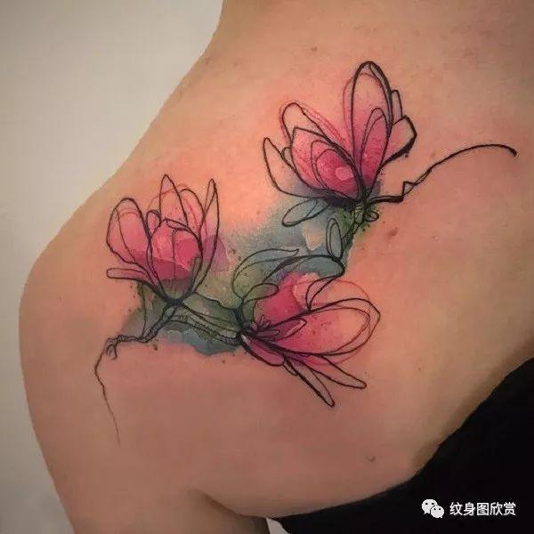 花纹身 - 【玉兰花】纹身图案