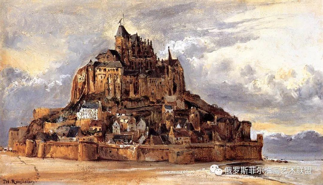 法国巴比松风景画派画家西奥多·卢梭风景油画作品赏析