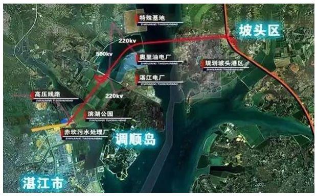 """海东新区路网规划""""三纵四横""""中的""""第二横"""",也是湛江市重要的东西向主"""