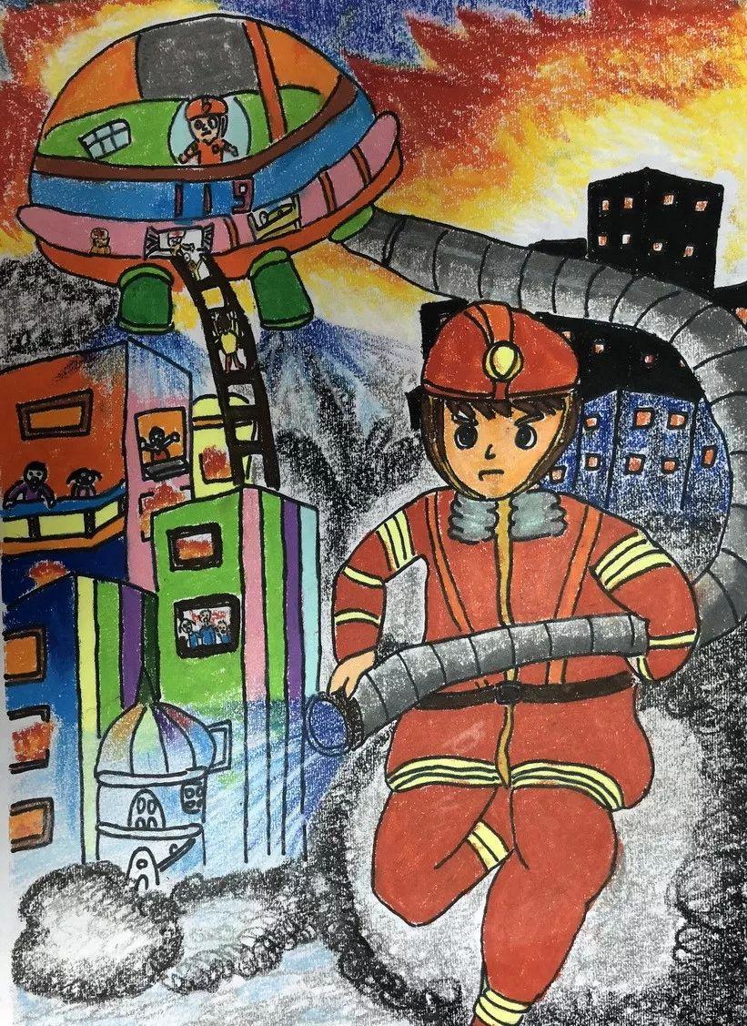 孩子眼中的消防员 宜昌市儿童消防作文绘画大赛参赛作品展