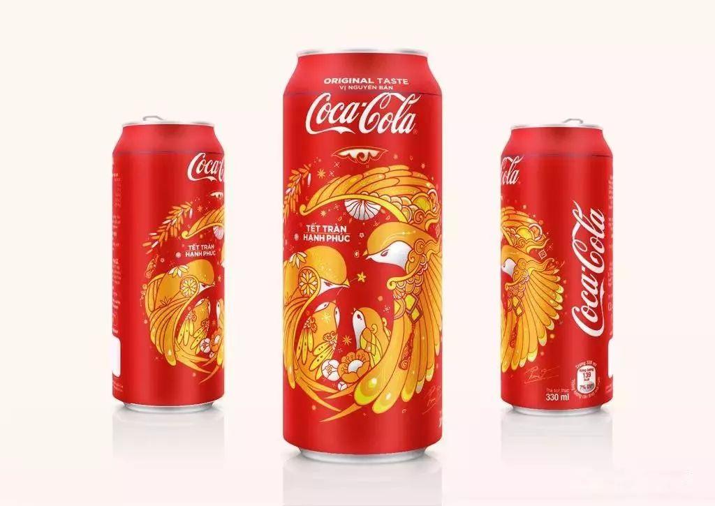 可口可乐2018中国农历新年限量款燕子罐包装图片