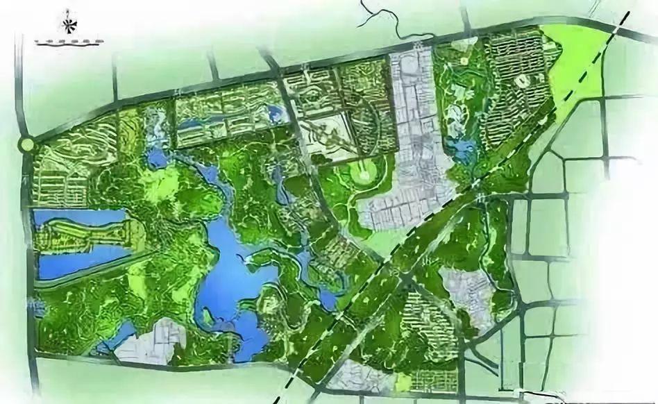 南苑森林湿地公园规划图