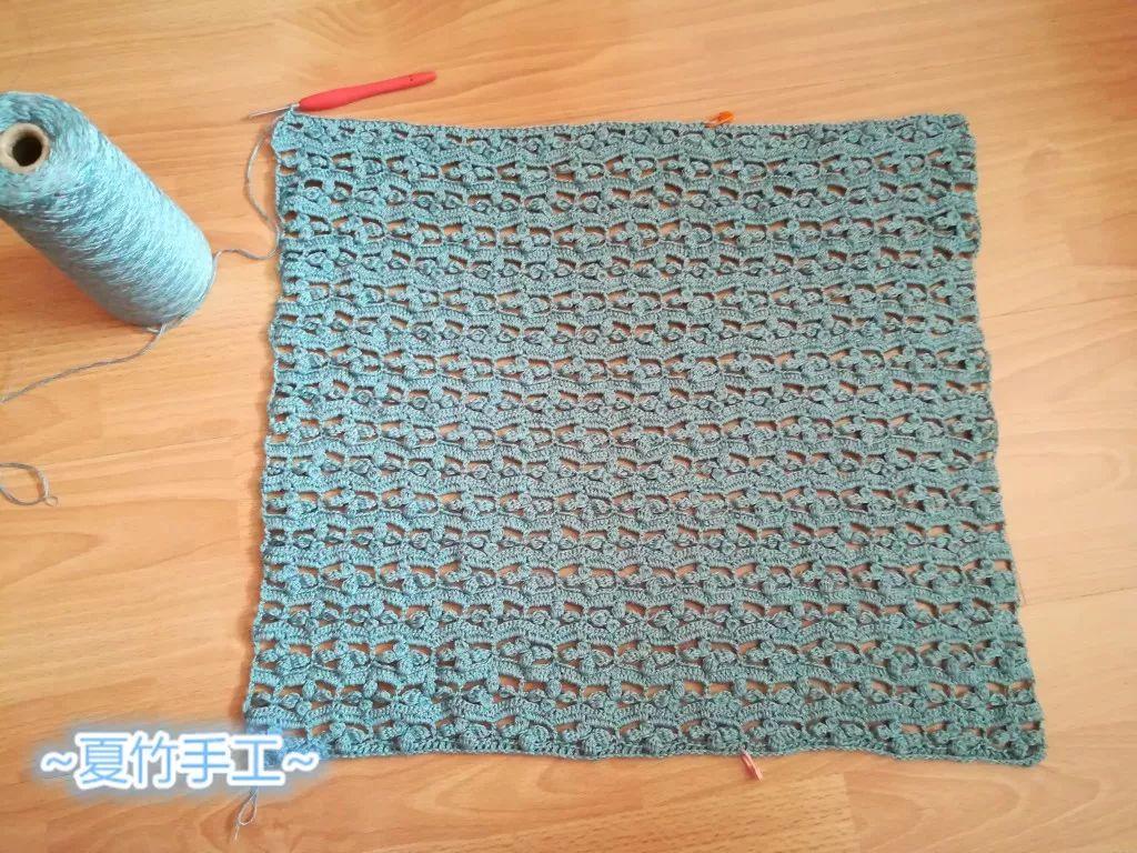 四叶草:仿外网漂亮又独特的女士钩针镂空花短袖(附图解)图片