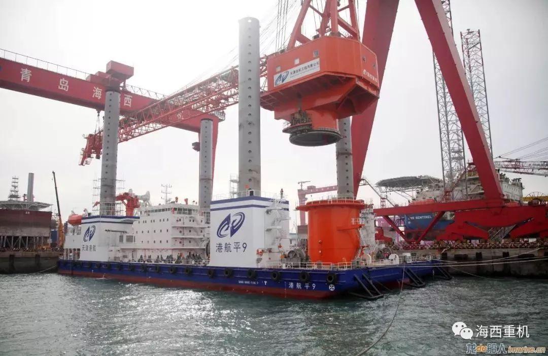 【海工】海西重机成功交付国内起重量最大的风电施工平台