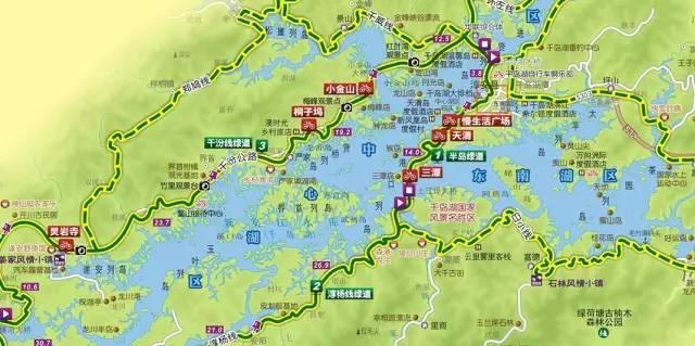 千岛湖景区地图高清版