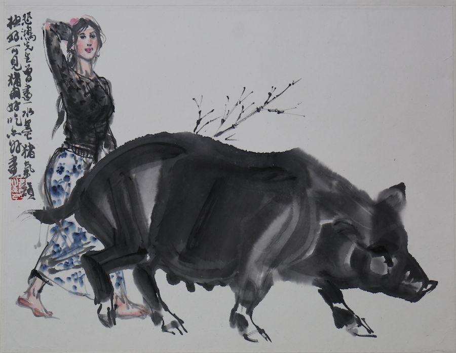 名家画猪,祝您新年诸事如意!图片