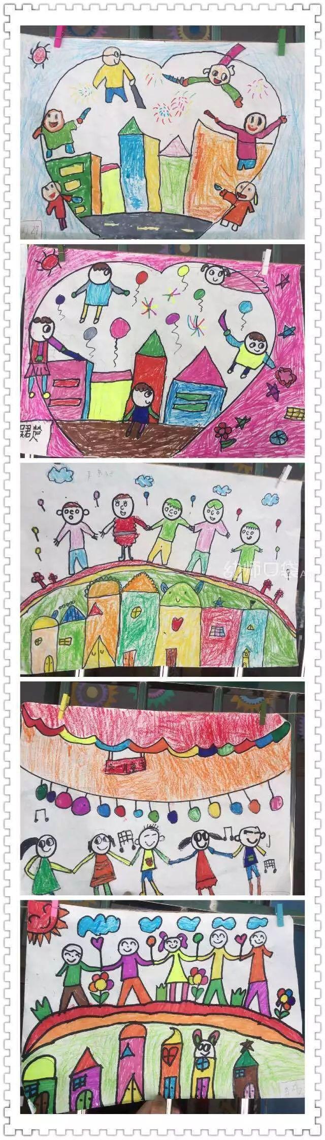 孩子再将过程画出来,原来自己长这样,真好玩~   发布者:熊猫绿草