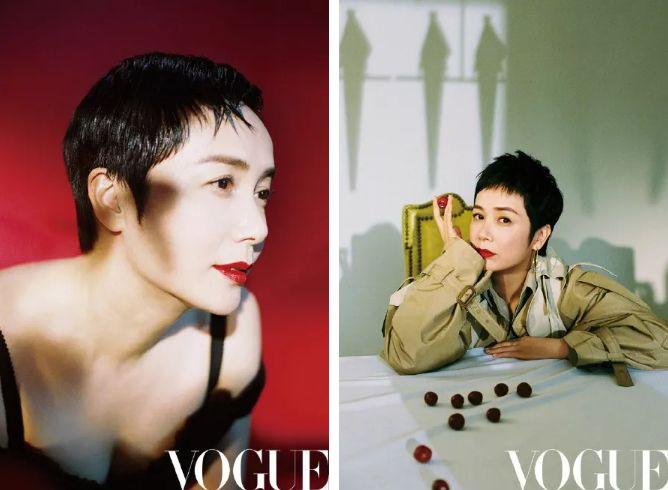 蒋雯丽也加入了短发这个阵列,她的超短发性感迷人又很有复古气息