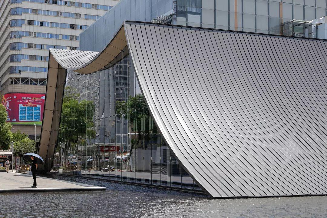 与地景融为一体的远洋东方境世界观售楼处 水相v远洋漕运景观设计口号图片