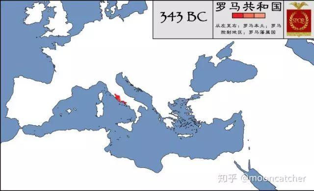 十張圖迅速了解古羅馬的擴張曆史