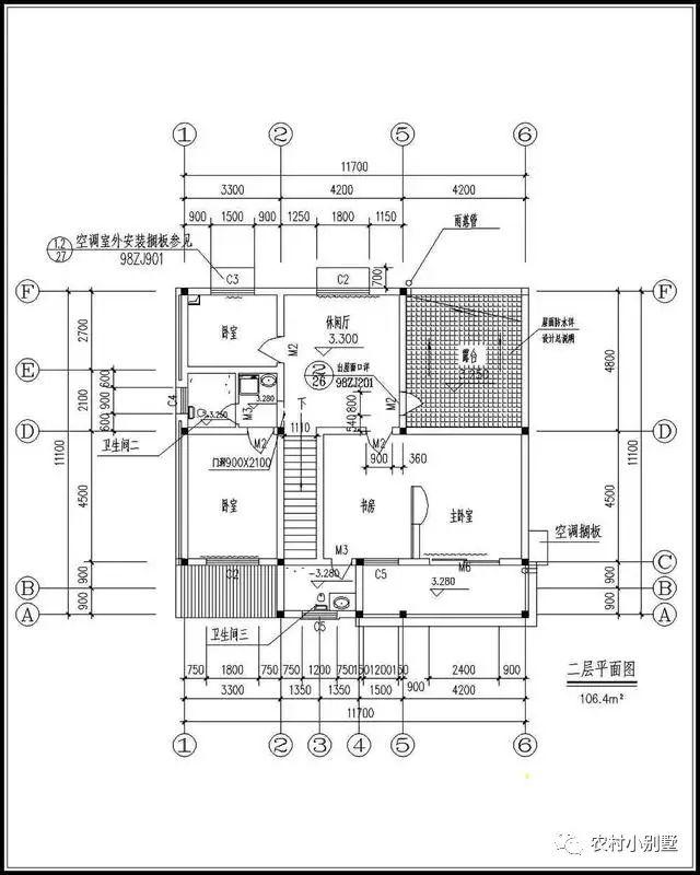 7x11米22万就能搞定二层农村别墅设计图纸