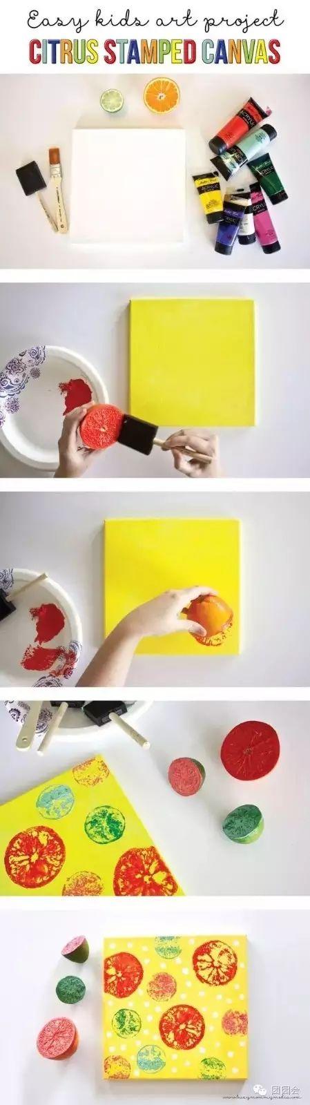 水果变印章,幼儿园创意手工大集合