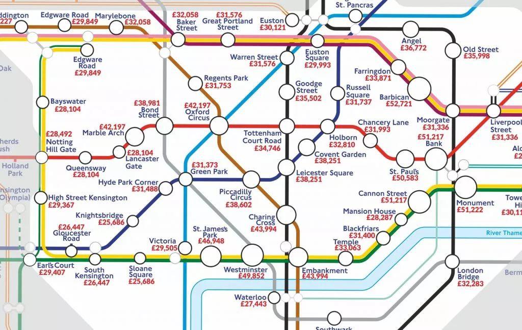 你知道 北京哪个地铁站走出来的上班族工资最高?