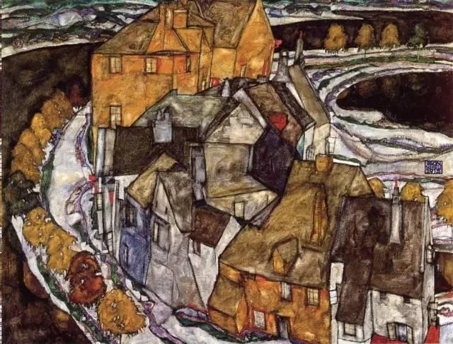 难得一见的席勒风景油画