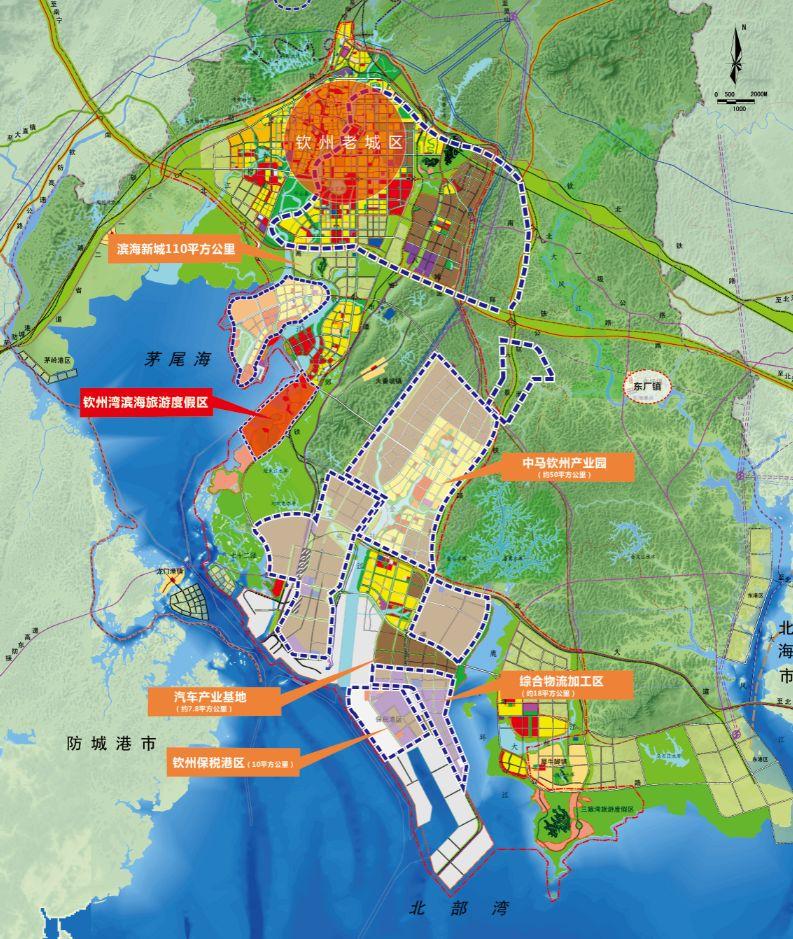 钦州市城区规划图
