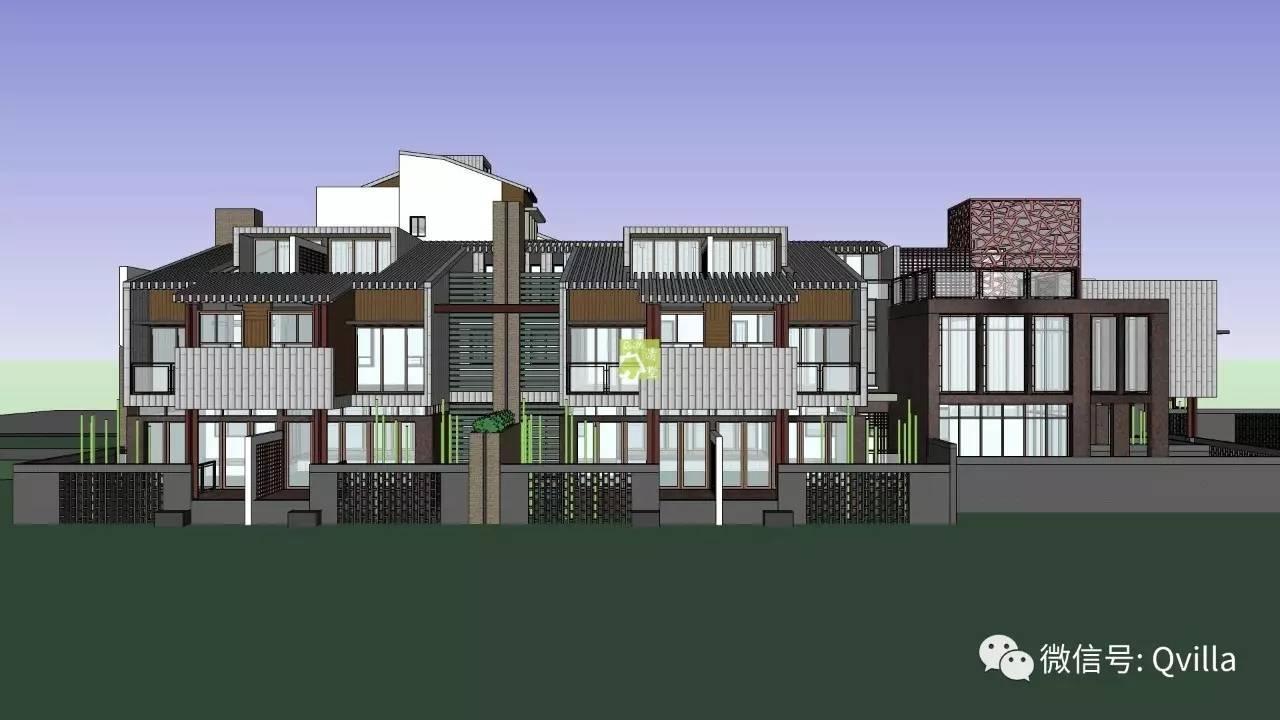 新中式二层半自建别墅建筑方案欣赏
