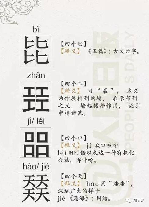 最难认的36个四胞胎汉字,读对6个以上是高手 - sk5907 - SK5907___舒怡博客